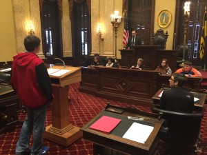 Students at Baltimore City Council